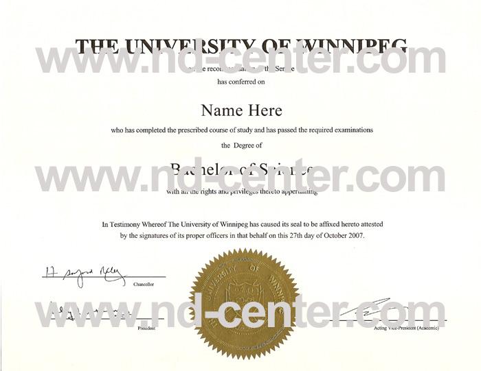 University Of Winnipeg Diploma