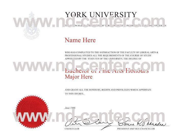 York University Diploma